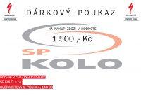 Specialized - Dárkový poukaz 1500 ,- Kč
